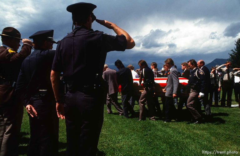 Funeral for Firefighter Blake Wright, Midway Fire