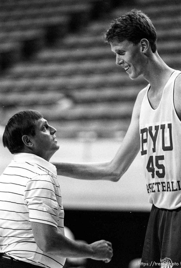 BYU Basketball Practice