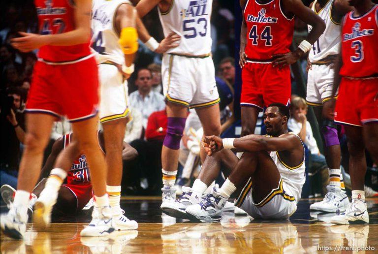 Utah Jazz v Washington Bullets