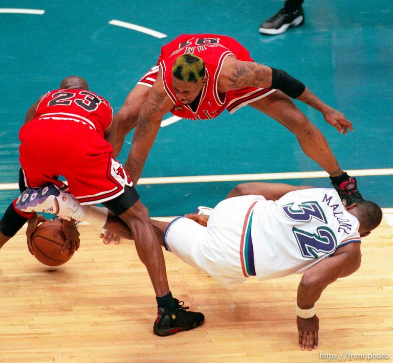 Utah Jazz v Chicago Bulls, NBA Finals Game 6