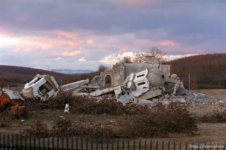 Orthodox Church in Drenoc Destroyed