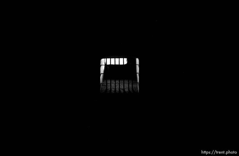 Holding cells in the death block, Auschwitz