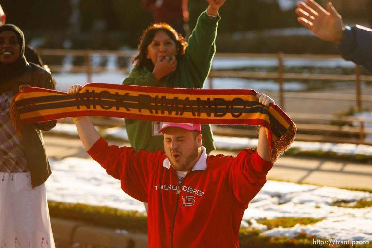 Real Salt Lake Champions Fans Along the Motorcade