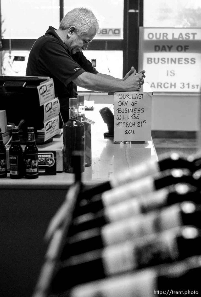 Liquor store closing
