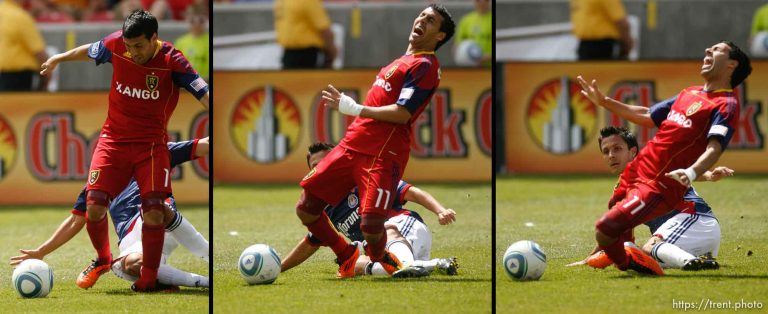 Real Salt Lake v Chivas USA – Javier Morales injured