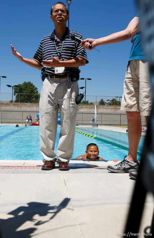 Pool Safety Photobomb