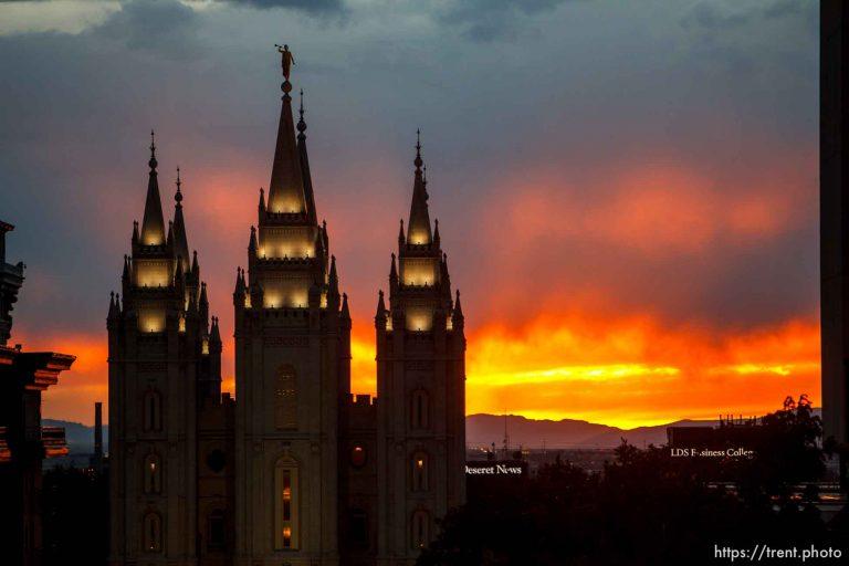 LDS Temple Sunset