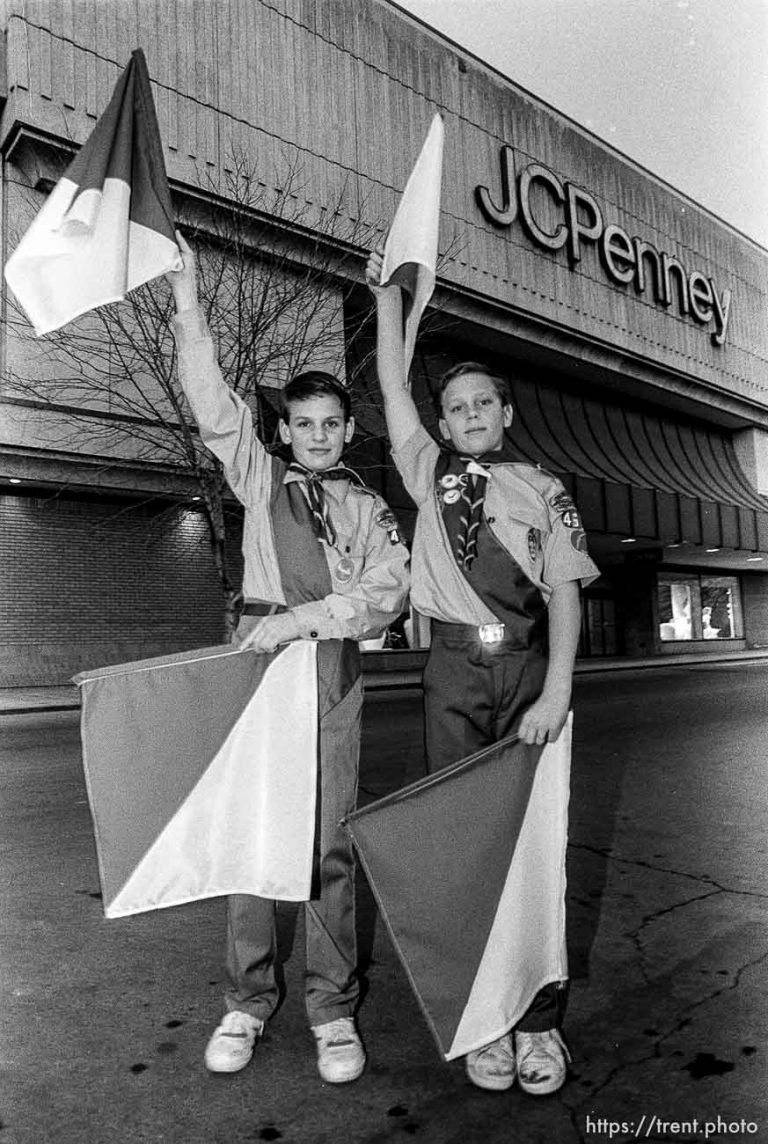 Boys Scouts, Flags, JC Penney