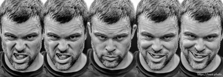The faces of MMA fighter Sean O'Connell