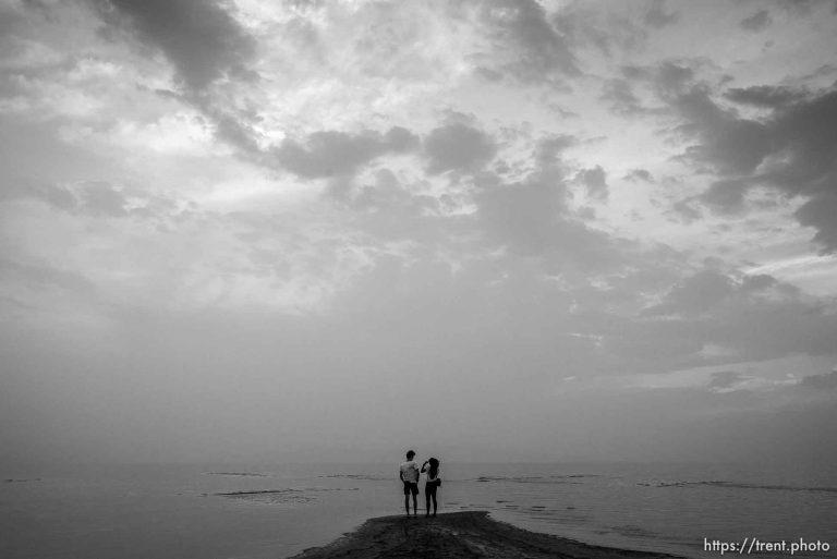 Great Salt Lake – Sunset Monochrom