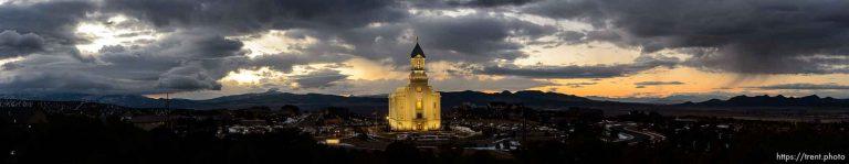 Cedar City Temple at Sunset